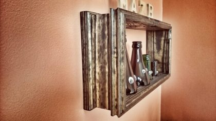 bottle neck frame shelf