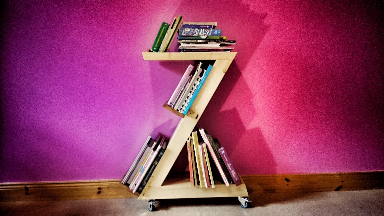letter z bookshelf