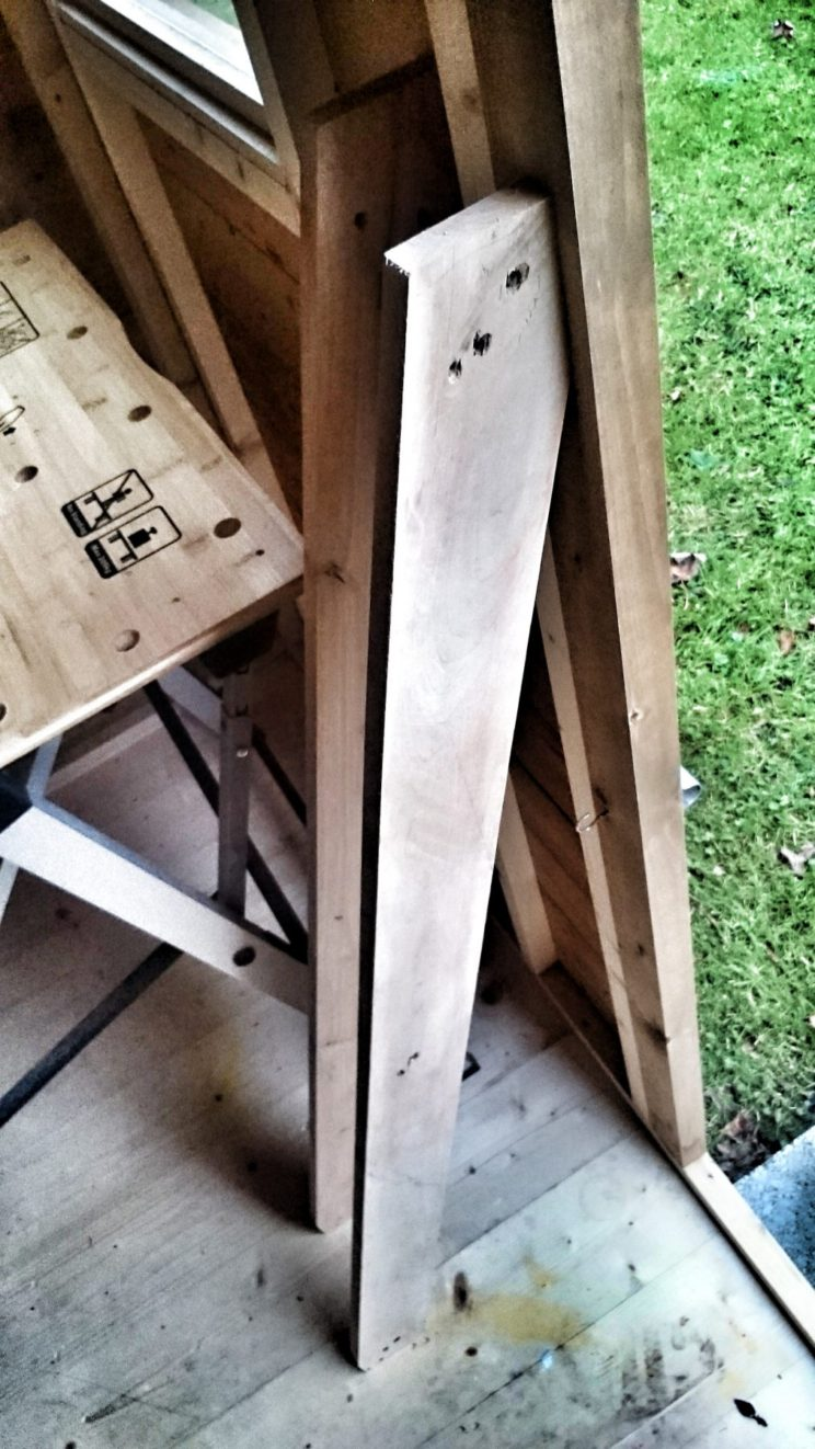 making leaning bookcase diy